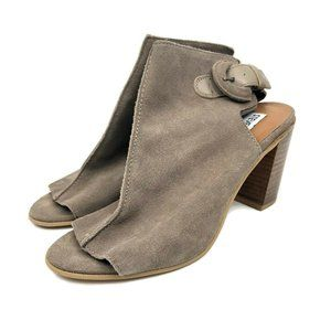 Steve Madden Catlyna Taupe Suede Leather Open Toe